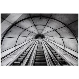 AKRYLOVÝ SKLENĚNÝ OBRAZ, architektura, 80/120/1,70 cm - černá, bílá