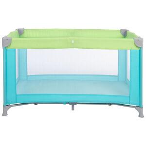 My Baby Lou CESTOVNÍ POSTEL, 125/65/74 cm - zelená, světle modrá