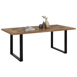Ambia Home JÍDELNÍ STŮL, masivní, recyklované dřevo, přírodní barvy, černá - přírodní barvy, černá