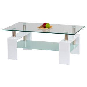 Boxxx KONFERENČNÍ STOLEK, bílá, sklo, kompozitní dřevo, 110/55/60 cm - bílá