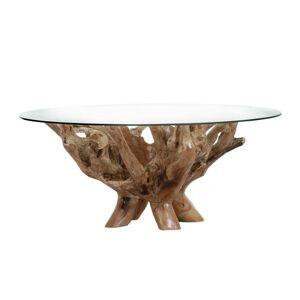 Ambia Home KONFERENČNÍ STŮL, hnědá, dřevo, sklo, - hnědá