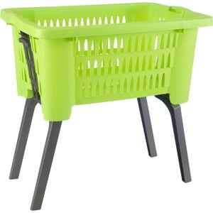 Homeware KOŠ NA PRÁDLO, barvy grafitu, zelená - barvy grafitu, zelená