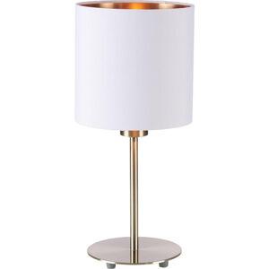 Novel LAMPA STOLNÍ, E27, 18/40 cm - bílá, měděné barvy