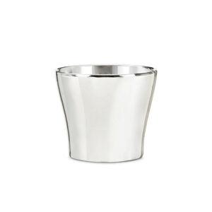 OBAL NA KVĚTINÁČ, keramika, 16/13 cm - barvy stříbra