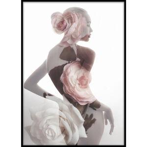 Monee OBRAZ NA PLÁTNĚ, ženy, 50/70 cm - růžová