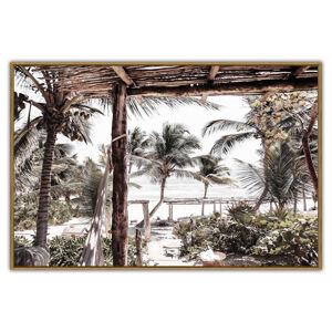 Monee OBRAZ NA SKLE, pláž & moře, 120/80 cm