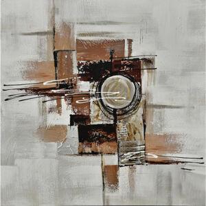 Monee OLEJOMALBA, abstraktní, 150/70 cm - hnědá, bílá, tmavě hnědá