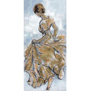 Monee OLEJOMALBA, lidé, 70/150 cm - hnědá, šedá, barvy zlata, béžová