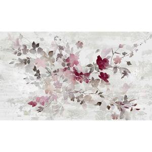 Monee OLEJOMALBA, květiny, 120/70 cm - šedá, fialová, bílá