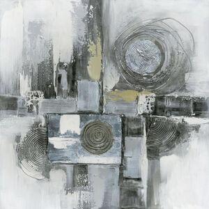 Monee OLEJOMALBA, abstraktní, struktury, 60/60 cm - vícebarevná