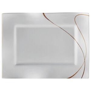Ritzenhoff Breker SERVÍROVACÍ PODNOS, keramika, - hnědá, bílá