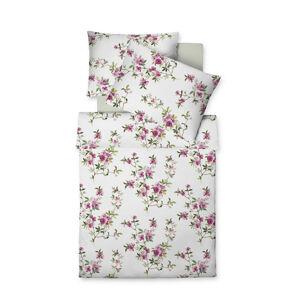 Fleuresse POVLEČENÍ, interlock jersey, růžová, bílá, 140/200 cm - růžová, bílá
