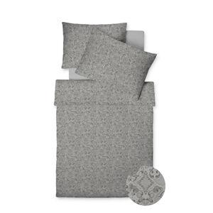Fleuresse POVLEČENÍ, makosatén, šedá, barvy stříbra, 140/200 cm - šedá, barvy stříbra