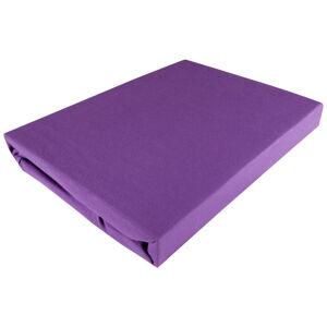 Fleuresse PROSTĚRADLO NAPÍNACÍ, žerzej, fialová, 150/200 cm - fialová