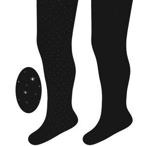 My Baby Lou PUNČOCHÁČE - černá, barvy stříbra