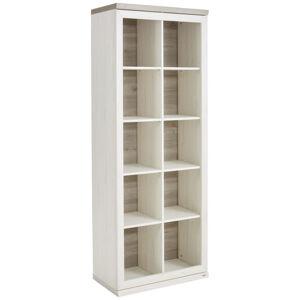 Hom`in REGÁL, šedá, bílá, 80/209/43 cm - šedá, bílá