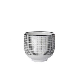 Ritzenhoff Breker ŠÁLEK NA ČAJ, porcelán - černá, bílá