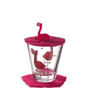 Leonardo SKLENIČKA - růžová, pink, průhledné