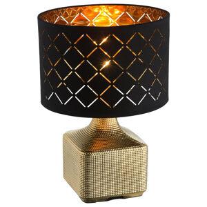 Marama STOLNÍ LAMPA, E27, 25/38 cm - černá, barvy zlata