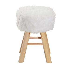 Ambia Home TABURET, pinie, přírodní barvy, bílá - přírodní barvy, bílá