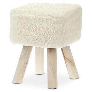 TABURET, dřevo, textil, 29/35 cm