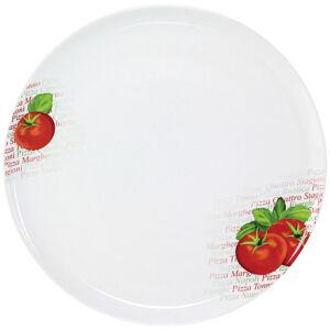 Homeware TALÍŘ NA PIZZU, porcelán - zelená, červená, bílá