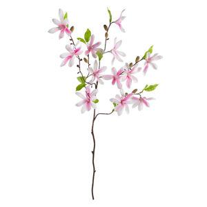 UMĚLÁ KVĚTINA magnolie 90 cm - růžová, bílá