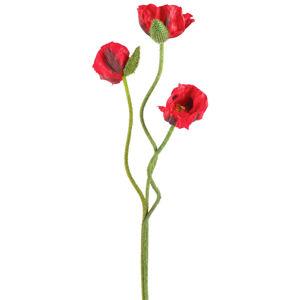 UMĚLÁ KVĚTINA mák 72 cm - červená
