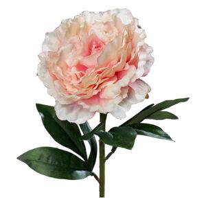 UMĚLÁ KVĚTINA růže 63 cm - růžová