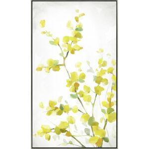 Monee UMĚLECKÝ TISK, květiny, 70/120 cm - žlutá, bílá