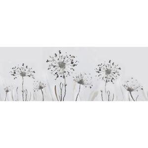 Monee UMĚLECKÝ TISK, květiny, 55/55 cm - bílá, olivově zelená