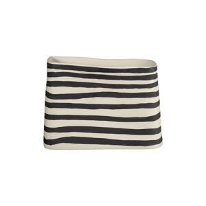 ASA VÁZA, keramika, 21,5 cm17 cm - přírodní barvy, černá, bílá
