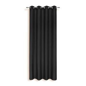 Ombra ZÁVĚS S KROUŽKY, neprůsvitné, 140/245 cm - černá