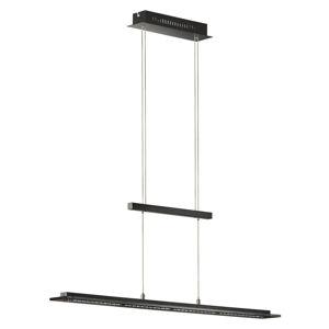 ZÁVĚSNÉ LED SVÍTIDLO, 88/9/80-150 cm - černá, barvy chromu